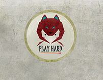 PLAYHARD condom logo design