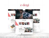 E-Dergi Magazine Theme Web Design UI & UX Design