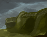 Mountain Painting | Digital Painting - Concept Art
