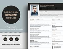 Dark Classy Resume/CV Template