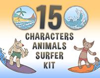 Animals Surfer