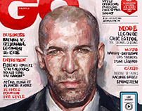 Artwork for GQ France - Zinedine Zidane