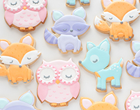 Woodland animal cookie decorating video tutorials