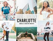 Free Charlotte Mobile & Desktop Lightroom Presets