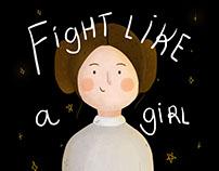 Star Wars Print | Fight like a girl