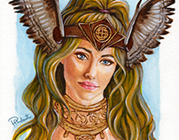 Valkyrie - Traditional painting