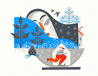 Art of Seasons: All-Year-Round Digital Illustrations