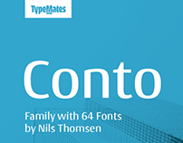 Conto Typeface Collection