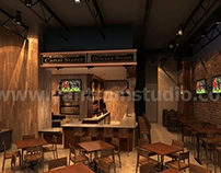 Unique Bar Interior ideas by Yantram 3d interior design