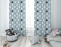 Kids Room - Curtains Mockup Pack
