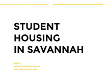 Solving Housing problems in Savannah