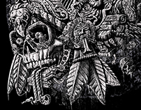 Aztec Great Lizard Warrior