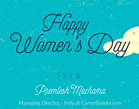 Career Builder India : Women's Day (Emailer)