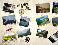 Travelogue magazine design