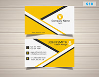 Elegant Creative Manager Business Card