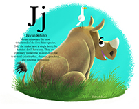 J is for Javan Rhino