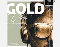 Golden Vibes Free PSD Flyer
