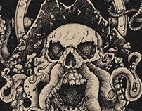 Skull Pirate Print