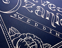 Reeves-Ozanich Wedding | handlettered signs