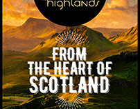 The Highlands Whisky bar lollipop ads