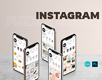 INSTAGRAM PUZZLE TEMPLATE - PS&CANVA (FREE)