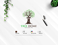 Tree Home Logo Design