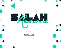 Salah Resume - FREE Personal Template