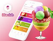 iCeclub - iceCream store app concept