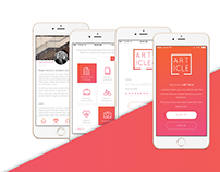 [ART/ICLE] - UX/UI Design & Branding