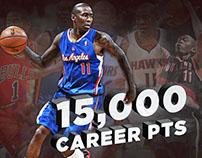 Los Angeles Clipper Jamal Crawford 15,000 Career Pts