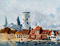 DENMARK / plein air painting