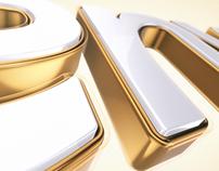 3D Logo Intro Golden