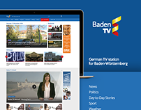 BadenTV website redesign concept