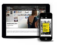 Akademie der bildenden Künste Stuttgart – Website