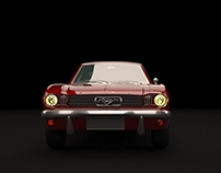 Ford Mustag 3D render