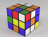 Modelado Cubo Rubik con animación