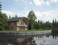 "Проект ""Дом на озере"". REVIT-3dsMax-Ps."