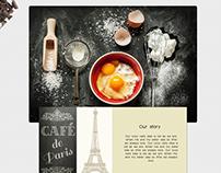 Paris Cafe Responsive Website