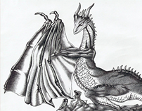 Eternal dragon | ballpoint pen drawing | 2009