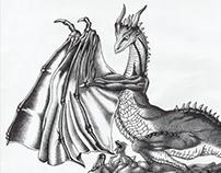 Eternal dragon | ballpoint pen drawing | 2009