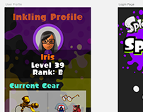 Daily UI Challenge #006: User Profile (Splatoon)