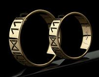 Rune wedding rings, Rune ring - Tyvodar .com
