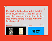 Belli Gallery - website