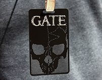 Black Metal VIP Pass With Custom Skull Logo Cutout