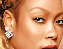 DaBrat Digital Painting by Wayne Flint