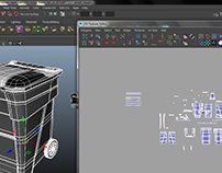 uv mapped trash can