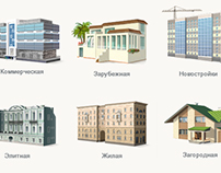 Icons for real estate website