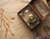 Fairy skull, miniature prop