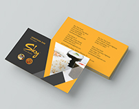 Business Card For Sky Thai Sushi Restaurant