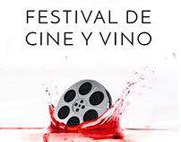 Cartel para el Festial de Cine y Vino La Solana